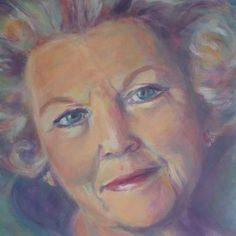 Koningin Beatrix door Lida Meines Portraits, Painting, Art, Watercolors, Faces, Shop Signs, Kunst, Art Background, Head Shots