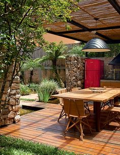 Outdoor kitchen and patio Outdoor Rooms, Outdoor Gardens, Indoor Outdoor, Outdoor Living, Outdoor Furniture Sets, Outdoor Decor, Outdoor Kitchens, Outdoor Life, Gazebos