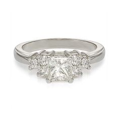 1.38ct H VS2 PRINCESS CUT DIAMOND ENGAGEMENT RING 950 PLATINUM At-http://www.larrysfinejewelryinc.com