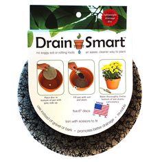 Pot Risers DS-6-5PK 6-Inches Drain Smart Discs 5-count