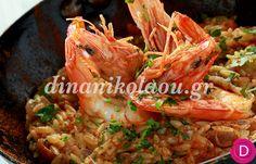 Κριθαρότο με γαρίδες | Dina Nikolaou