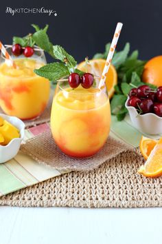 Tropical Slushie is a refreshing and tropical drink, for those fun summer days!