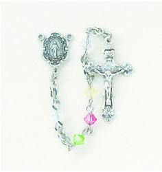 Reginas Catholic Gifts - Swarovski Multi Rondell Rosary-4MM, $82.00 (http://www.reginascatholicgifts.com/swarovski-multi-rondell-rosary-4mm/)