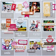 #papercraft #scrapbook #layout.  Summer 2014 by adriennealvis at @studio_calico