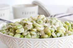 Creamed Lima Beans - Limas are combined with onion and garlic in a smooth creamy sour cream sauce to make this side dish delicious. Vegetable Side Dishes, Vegetable Recipes, Vegetarian Recipes, Healthy Recipes, Healthy Meals, Healthy Eating, Lima Bean Recipes, Pork Recipes, Cooking Recipes