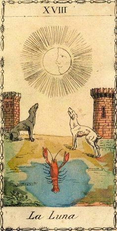 The Moon - Ancient Tarot of Lombardy