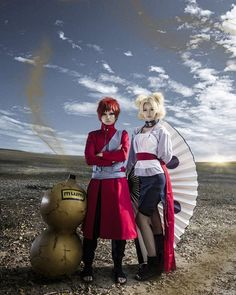 Temari and gaara cosplay