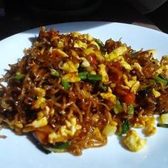 Chinese Fried Noodles Allrecipes.com  I've made this several times, and it is really yummy!