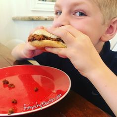 This is one image I didnt think I would ever see. My son smiling while taking a bite into a sandwich! Its not any sandwich its a sloppy Joe which he has been requesting for dinner for a few days. I finally did it. At first he wasnt sure asked me a million questions about the bread eat all the fruit and veggies on his plate first and kept staring at the sloppy joe. Finally when I said he had tried the bread before he got brave and started eating it to the last crumb!! I couldnt believe it…