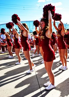 Iowa State Dance Team gets the crowd ready for the team to arrive during Spirit Walk. Photo via Iowa State Athletics.