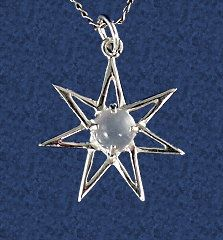 Elven Star From The Forest Silver Pendant By Seralune On