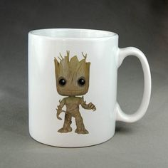 Groot Guardians of the Galaxy for White Coffee Mug Two Sides Ceramics 11oz