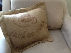 Simple Burlap Sack Cushion