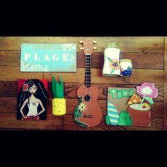 Activités pour le enfants cet été ! DIY for kids !  #poscagallery #posca #poscalifecustom #aloha#ukulele#diy#craftforkids #ananas#fun#instagood #picoftheday #tiki#ocean#summer#beach