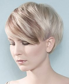 I love this!! It's got long bang with and long sides but cut short. Should be easy to grow out