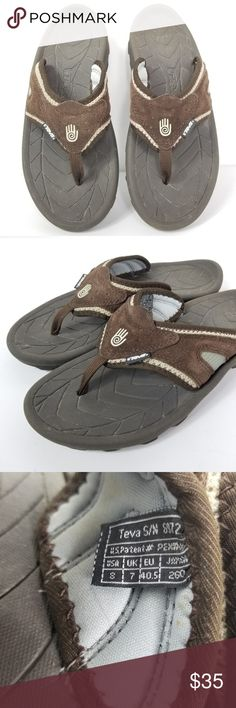 c61ab0016 Teva Elixir 5 Outdoor Leather Sandals Flip Flops Teva Elixir 5 Mens Size 8  Outdoor Sandal