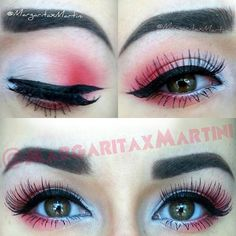 Urban Decay Electric Palette, winged liner, false lashes....oh my!  Instagram @MargaritaxMartini