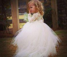 Toddler Flower Girl Dress by babyowlnest