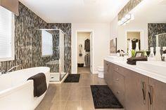 Ensuite Neutral Colors, Building A House, Bathrooms, Bathtub, Mirror, Furniture, Ideas, Home Decor, Standing Bath