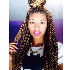Looks great! Can get the same look in less time by crocheting pretwisted hair.