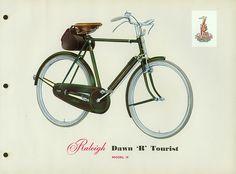 vintage 1956 Raleigh bike catalogue