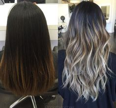 Brunette to ash blonde
