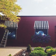 Window murals outside of @parkleigh #ROC. Shared by Carly S. #ThisIsROC #RochesterNY