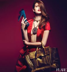 Red Haute - FLARE's Accessory Guide / Fashion Director: Elizabeth Cabral / Photographer: Max Abadian