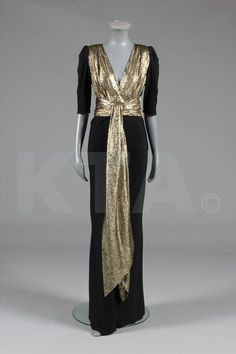 Evening Gown 1980, French, Made of lame and jersey