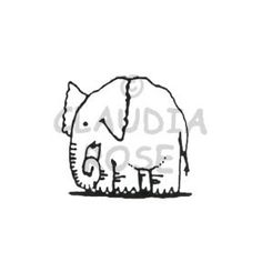 Elephant - CR150C - Rubber Art Stamp