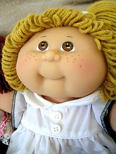 Cabbage Patch Kids: I had a similar one, brunette, called Camilla.