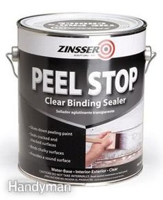 Use binding primers to prevent peeling - Problem Solving Home Improvement Products Get the #GiftGuide: http://www.familyhandyman.com/smart-homeowner/diy-home-improvement/problem-solving-home-improvement-products/view-all #DIY #products