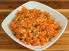 Carrot and Moong Dal Salad is a healthy and nutritious salad with beautiful colors. This is a great salad and easy to make. This can be served as an afternoon snack or an appetizer.
