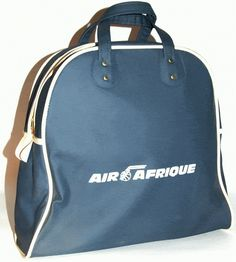 air afrique vintage flight bag