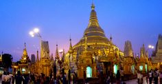 No trip is complete without a visit to this 2,500 years old Golden Pagoda namely Shwedagon in Yangon, Myanmar.