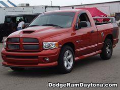 Red Dodge Ram Truck