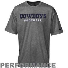 d6d3eb18e8de Nike Dallas Cowboys Youth Legend Authentic Font Performance T-Shirt - Gray