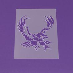 Schablone A3 Adler Eagle Tattoo - LT41 von Lunatik-Style via dawanda.com