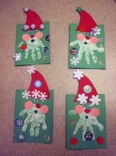 Craft for kids christmas hand print 33 ideas for 2019 Kids Crafts, Christmas Crafts For Kids To Make, Daycare Crafts, Preschool Christmas, Christmas Activities, Preschool Crafts, Kids Christmas, Holiday Crafts, Decoracion Navidad Diy
