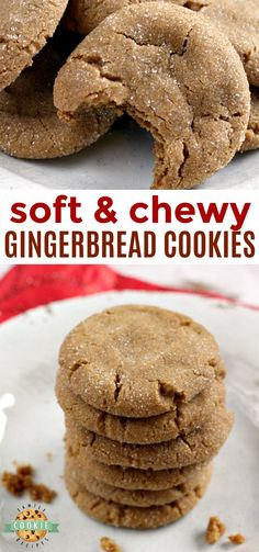 Soft Gingerbread Cookies are chewy, delicious and the perfect cookie for the hol. Soft Gingerbread Cookies are chewy, delicious and the perfect cookie for the holidays! This Gingerbread Cookie recipe is full of the flavors of cinnam. Soft Cookie Recipe, Ginger Bread Cookies Recipe, Ginger Snap Cookies, Easy Cookie Recipes, Yummy Cookies, Baking Recipes, Cookies Soft, Brownie Cookies, Chewy Ginger Cookies
