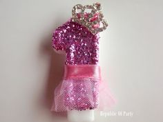 Hey, I found this really awesome Etsy listing at https://www.etsy.com/listing/184441627/sparkly-tutu-tiara-princess-first