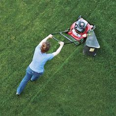 Do you need a new push lawn mower?  This Old House's experts tell you how to choose the best one for your grass-cutting needs. | Photo: Brad Wrobleski/Masterfile | thisoldhouse.com