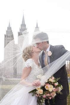 modest wedding dress with cap sleeves and a ballgown skirt from alta moda. -- (modest bridal gown).