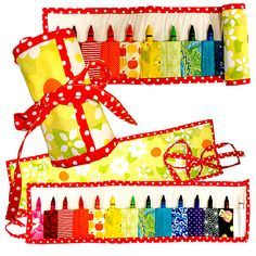 Tutorial  -  Janome - Crayon Roll Up