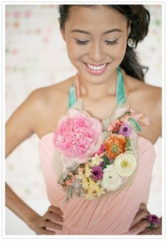 pastel wedding ideas and a floral bib necklace!