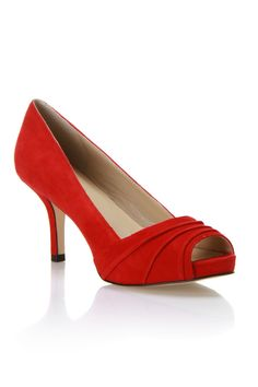 Andrew Stevens Carina Pumps In Red