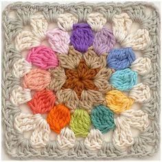 Granny Square Crochet Pattern, Crochet Squares, Crochet Doilies, Crochet Patterns, Granny Squares, Crochet Afghans, Crochet Blankets, Crochet Ideas, Crochet Stitches