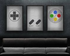 """Tired of your wall screaming how bored it is? Than this video gaming art print is just for you!  • This print set is 18"""" x 36"""", making it the"""