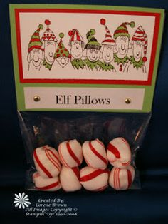 Simple and Cute Christmas Gifts. elf pillows, reindeer poop, reindeer noses & snowman poop!
