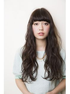 Hair Permed Hairstyles, Diy Hairstyles, Pretty Hairstyles, Long Hair With Bangs, Long Curly Hair, Medium Hair Styles, Short Hair Styles, Natural Hair Styles, Japan Hairstyle